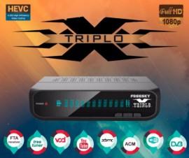 FREESKY TRIPLO X 4K, ACM, LINUX, 3 TUNERS, H265, IKS, SKS - Lançamento Freesky