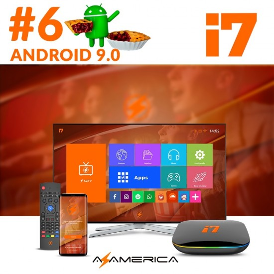 Azamerica i7 - Android 9.0 + Videogame + Controle - Eletronic Shop - Seu  Portal de Ofertas